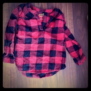 Girls long sleeve flannel shirt